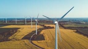 Parco dei generatori eolici Fotografie Stock