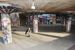 Parco dei graffiti - doma il percorso - Londra - Regno Unito immagine stock libera da diritti