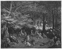 Parco dei reggenti, sotto gli alberi Fotografie Stock Libere da Diritti