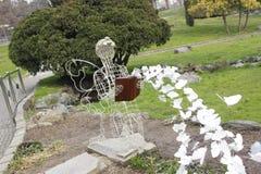 Parco del瓦伦蒂诺,春天在都灵 免版税库存照片