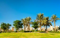 Parco del boulevard in Salmiya, Kuwait fotografia stock libera da diritti