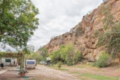 Parco del caravan di Calitzdorp Immagini Stock Libere da Diritti