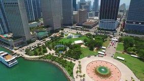 Parco del centro del bayfront di Miami dell'antenna archivi video