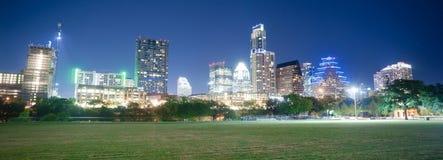 Parco del centro di Austin Texas Skyline View Zilker Metropolitan Fotografia Stock Libera da Diritti
