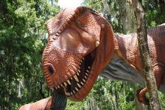Parco del dinosauro Fotografie Stock Libere da Diritti