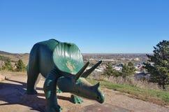 Parco del dinosauro in città rapida, Sud Dakota fotografia stock libera da diritti