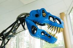 Parco del dinosauro, rex di modello robot di Tyrannosaurus immagine stock libera da diritti