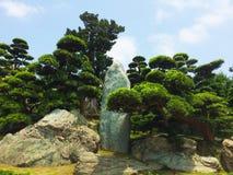 Parco del giardino di zen Fotografie Stock Libere da Diritti