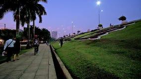 Parco del lago Inya, Rangoon, Myanmar video d archivio