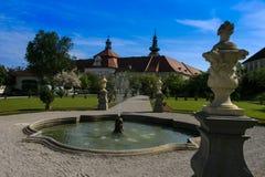 Parco del monastero Seitenstetten Immagini Stock Libere da Diritti