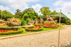 Parco del palazzo di Euxinograd o della residenza Euxinograd, Varna, Bulgaria fotografie stock