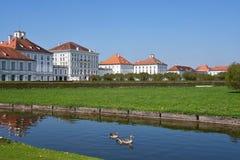 Parco del palazzo di Nymphenburg, Monaco di Baviera Immagine Stock Libera da Diritti