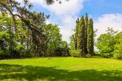 Parco del palazzo Euxinograd Varna, Bulgaria fotografia stock libera da diritti