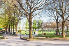 Parco del Palazzo för offentlig trädgård del Te i Mantua Arkivbild