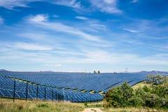 Parco del pannello solare Immagine Stock