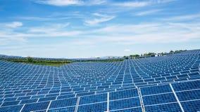 Parco del pannello solare Fotografia Stock Libera da Diritti