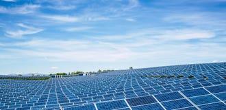 Parco del pannello solare Immagini Stock