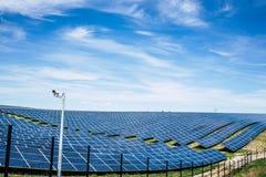 Parco del pannello solare Fotografie Stock