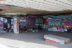 Parco del pattino dei graffiti - Londra - il Regno Unito immagine stock