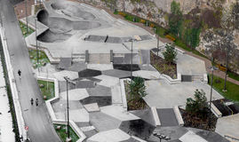 Parco del pattino a Lussemburgo Immagine Stock