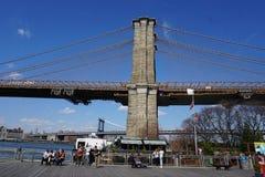 Parco 22 del ponte di Brooklyn Immagine Stock Libera da Diritti