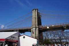 Parco 27 del ponte di Brooklyn Fotografie Stock Libere da Diritti