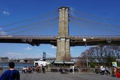 Parco 28 del ponte di Brooklyn Immagini Stock