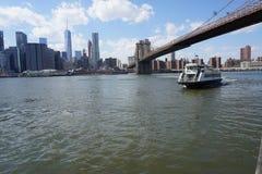 Parco 30 del ponte di Brooklyn Fotografia Stock Libera da Diritti