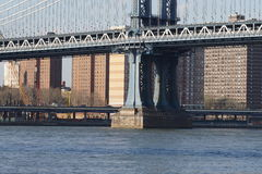Parco 34 del ponte di Brooklyn Fotografie Stock