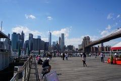 Parco 38 del ponte di Brooklyn Immagini Stock