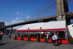 Parco 39 del ponte di Brooklyn Fotografie Stock Libere da Diritti