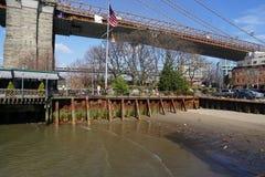 Parco 41 del ponte di Brooklyn Fotografie Stock