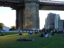 Parco 247 del ponte di Brooklyn Fotografia Stock