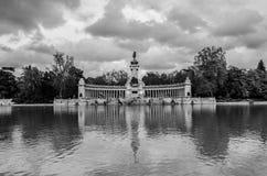 Parco Del Retiro Alfonso XII stockfotografie