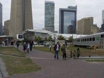 Parco del Roundhouse, Toronto, Canada Immagini Stock