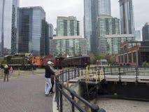 Parco del Roundhouse, Toronto, Canada Fotografia Stock Libera da Diritti