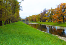 Parco del ` s di Catherine in Tsarskoe Selo Immagini Stock Libere da Diritti