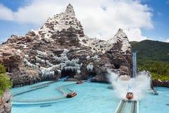 Parco dell'acqua della collina del ghiaccio Fotografia Stock