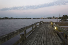 Parco dell'acqua nei colori di alba Fotografia Stock Libera da Diritti