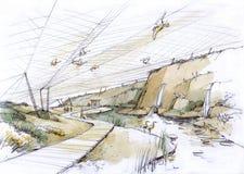 Parco dell'uccello nelle dune Immagine Stock Libera da Diritti