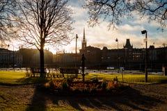 Parco della città di Rosenbad a Stoccolma, Svezia Fotografia Stock