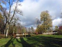 Parco della città di Sveksna, Lituania Fotografia Stock