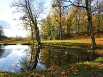 Parco della città di Sveksna, Lituania Fotografie Stock Libere da Diritti
