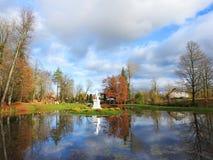 Parco della città di Sveksna, Lituania Immagine Stock