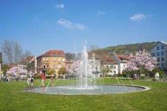 Parco della città in Ettlingen Fotografia Stock Libera da Diritti