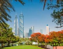 Parco della città il 4 giugno 2013 nel Dubai. Fotografie Stock Libere da Diritti