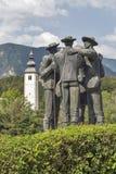 Parco della città vicino al lago Bohinj in Slovenia Fotografia Stock Libera da Diritti