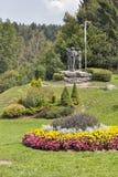 Parco della città vicino al lago Bohinj in Slovenia Immagine Stock