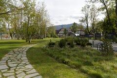 Parco della città in Zakopane Fotografia Stock Libera da Diritti