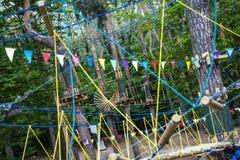 Parco della corda Fotografie Stock Libere da Diritti